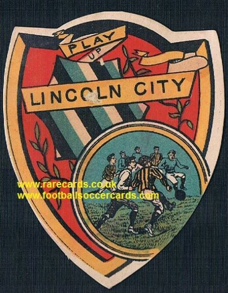 1890s Lincoln City Victorian football card by W.N. Sharpe